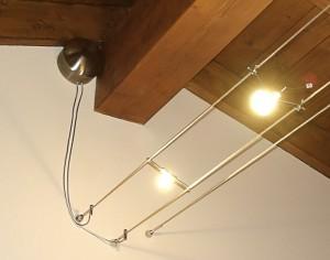 Illuminazione con cavi in acciaio illuminazione su cavo